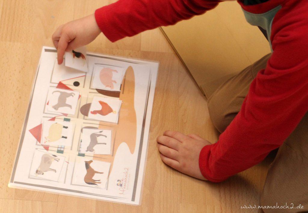 montessori zu hause montessoriathome legespiel tierspiel zuordnungsspiel tierordnung lernen übungen kindergarten (4)