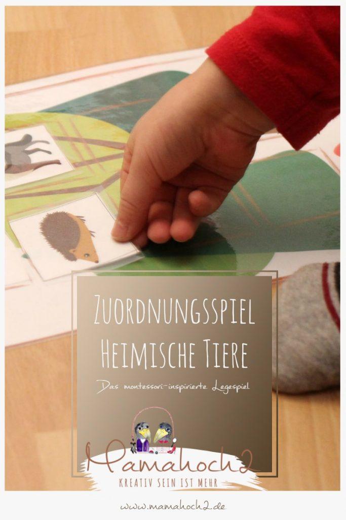 zuordnungsspiel säugetiere montessori zu hause montessori at home 2