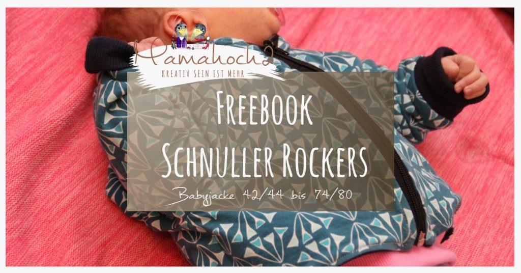 Babyjacke Freebook Schnittmuster Schnuller Rockers Gr. 42-80