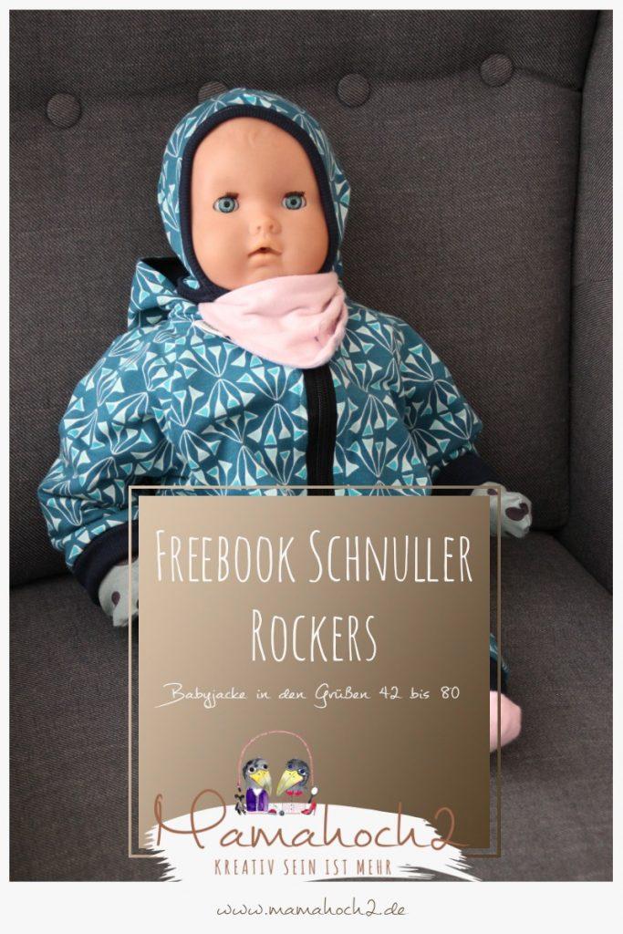 Freebook Schnittmuster Babyjacke Schnuller Rockers
