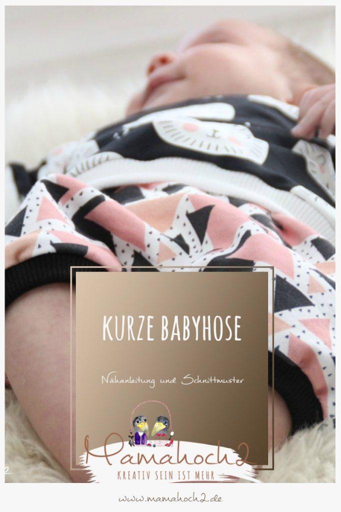 Nähanleitung Babyhose kurze Hose Schnittmuster Babypump Rockers Freebook