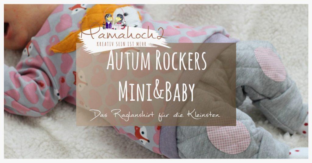 Nähanleitung Freebook kostenloses Schnittmuster Autumn Rockers Mini&Baby Raglanshirt Gr.42-92