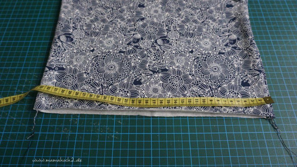 Nähanleitung Kleid Volant mit Musselin (11)