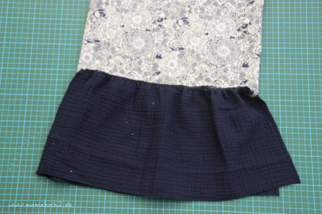 Nähanleitung Kleid Volant mit Musselin (25)