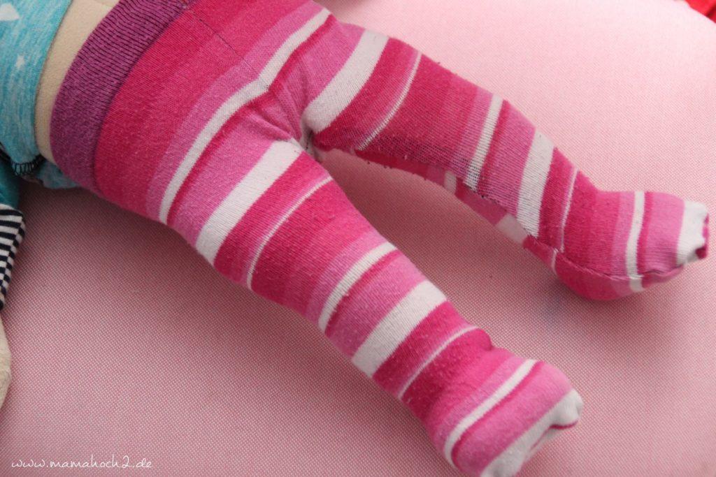DIY Nähanleitung Puppenhose aus alten Strumpfhosen und Socken (10)
