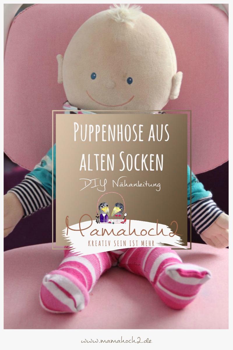 Puppenhose DIY Nähanleitung aus alten Socken und Strumpfhosen