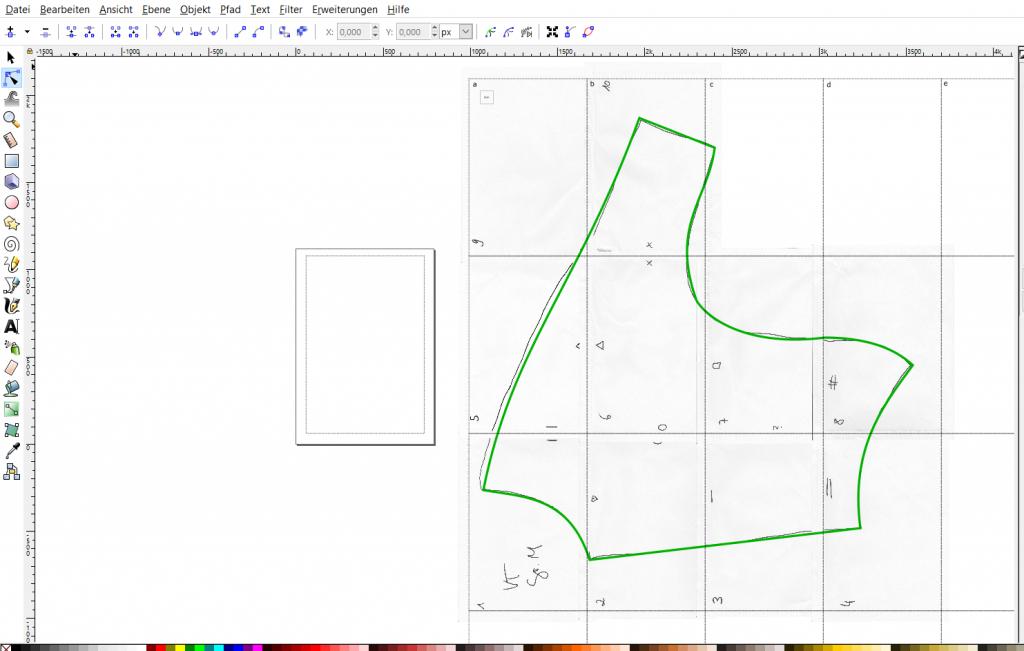 inkscape zeichnung digitalisieren anfertigen