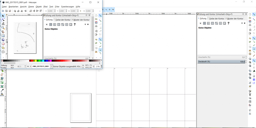 schnittmuster digitalisieren inkscape 1