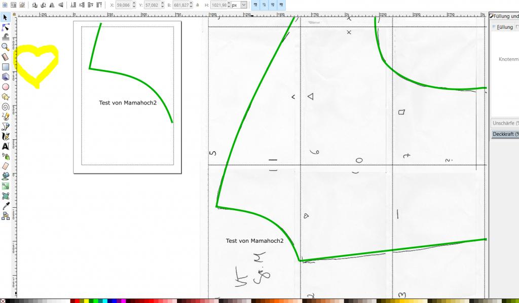 schnittmuster digitalisieren inkscape 4