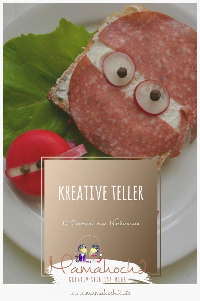 Foodteller . Essen für Kinder . dekorierte Teller 26