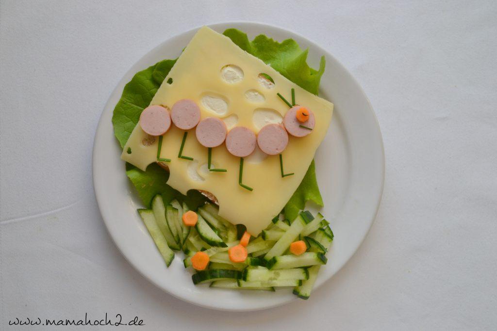 Foodteller . Essen für Kinder . dekorierte Teller 8