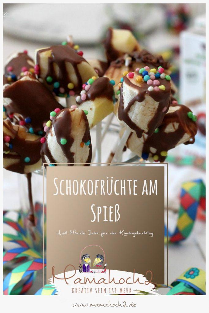 kindergeburtstag rezept lastminute obst schokolade kindertag spieße