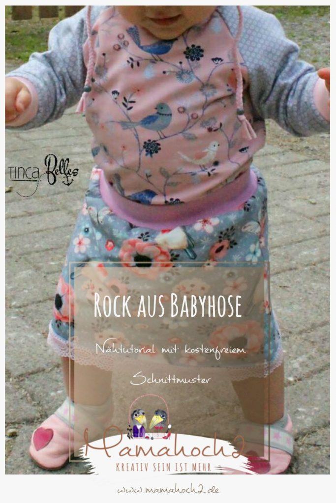 Rock aus Babyhose nähen Nähanleitung mit Freebook