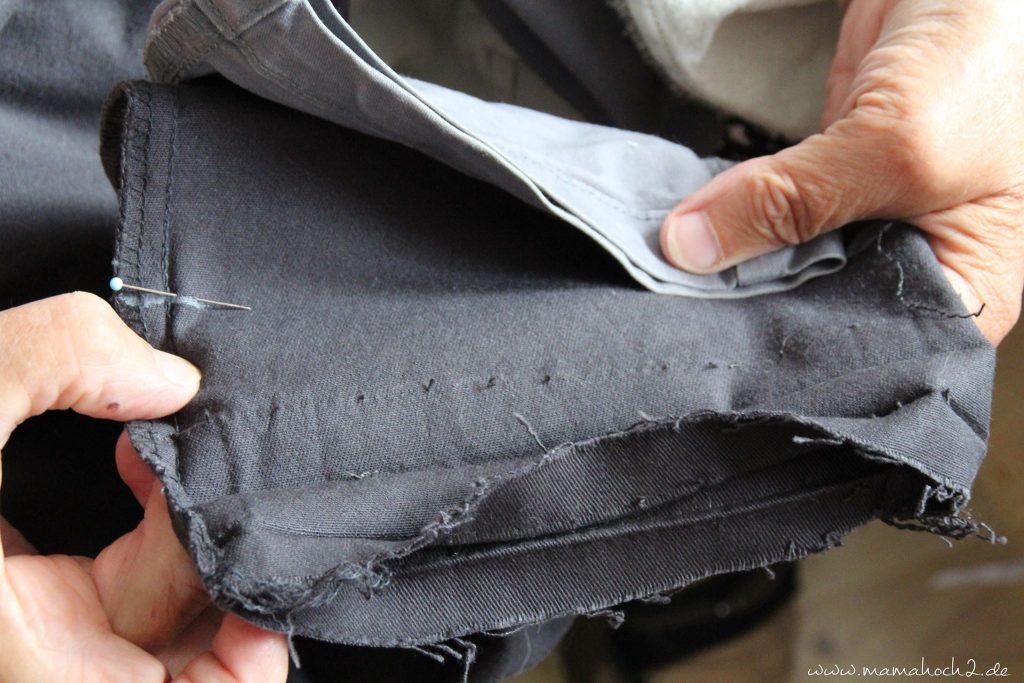 hose kürzen anleitung nähen jeanshose (11)