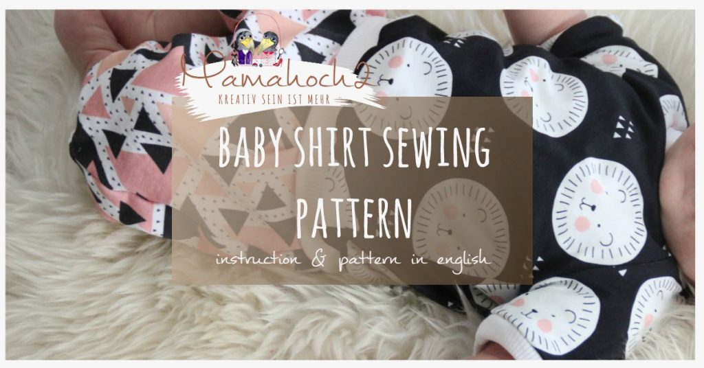 Baby shirt sewing pattern instruction title