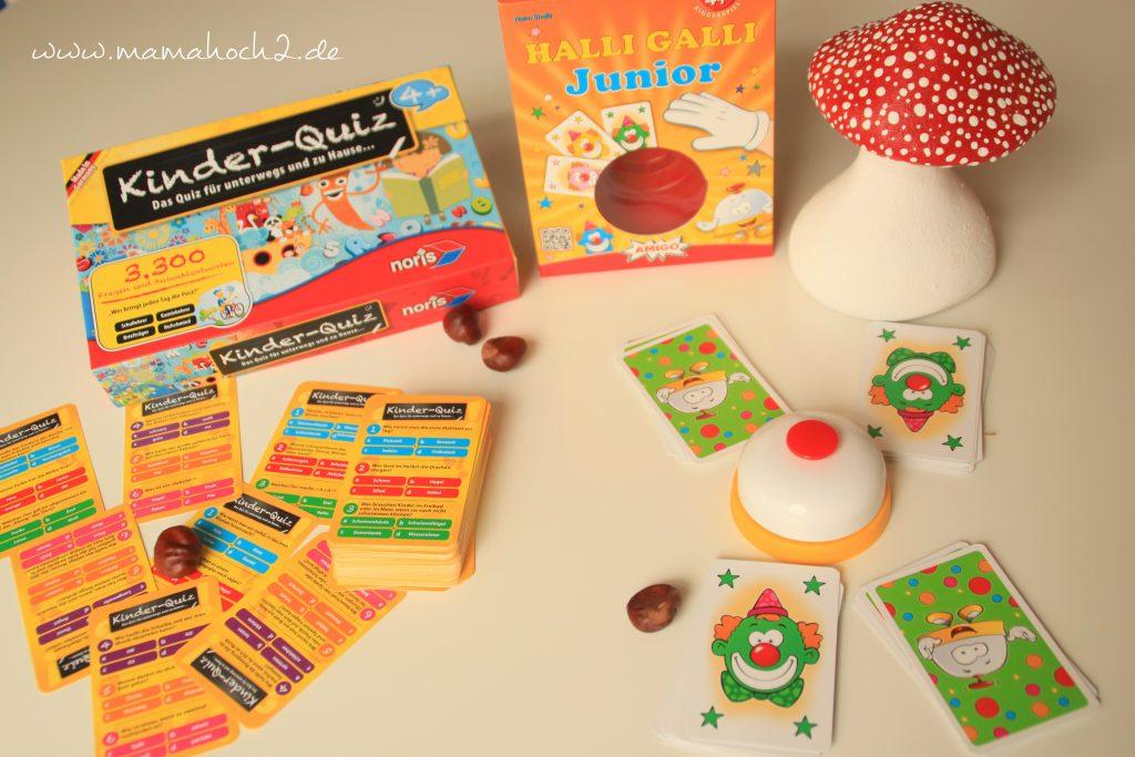 Kinder Quiz, Halli Galli, Gesellschaftsspiele