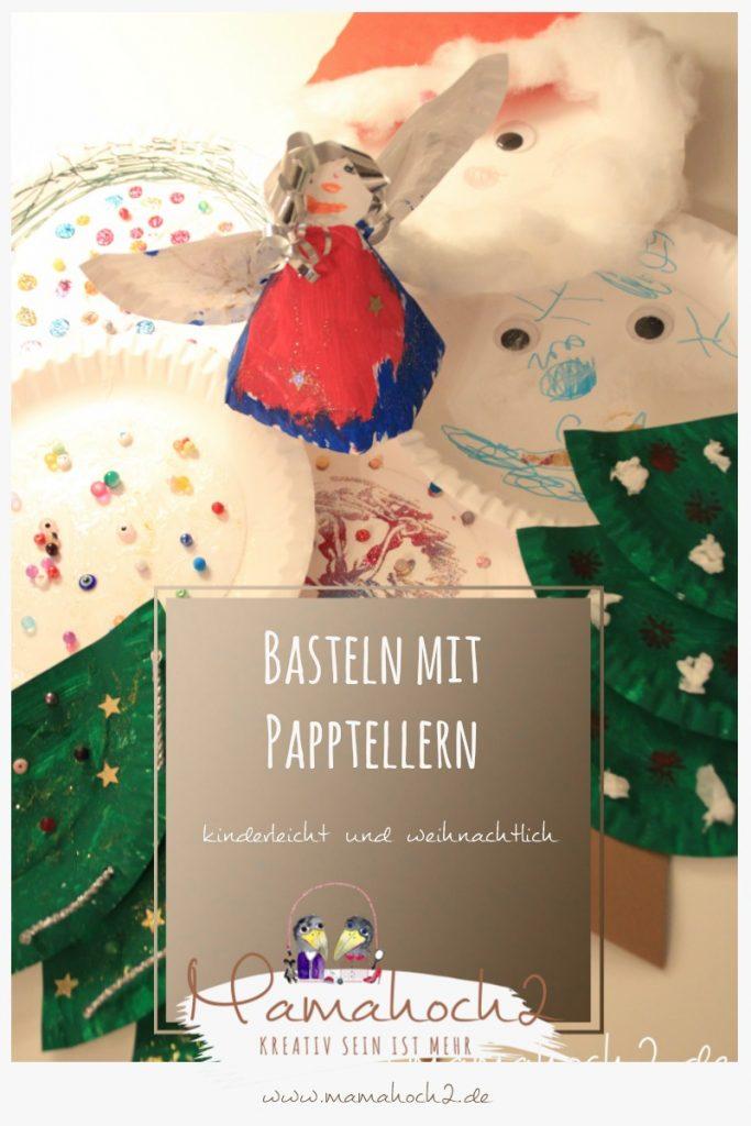 Pinterestbild Basteln mit Papptellern