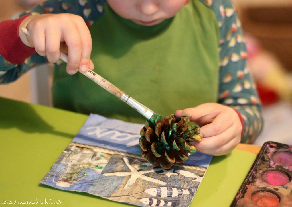 diy blog kinder basteln zapfen weihnachten (6)