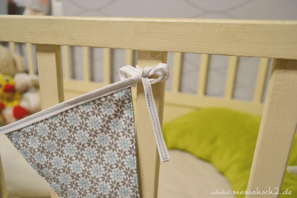 Wimpelkette . Wimpelkette selber nähen . Babyset nähen . Deko für das Kinderzimmer nähen . Freebook (15)