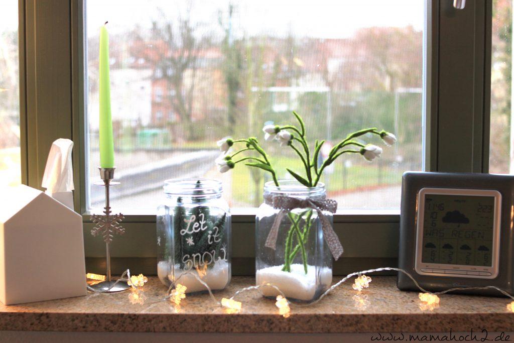 Winterwelt im Glas Fenster