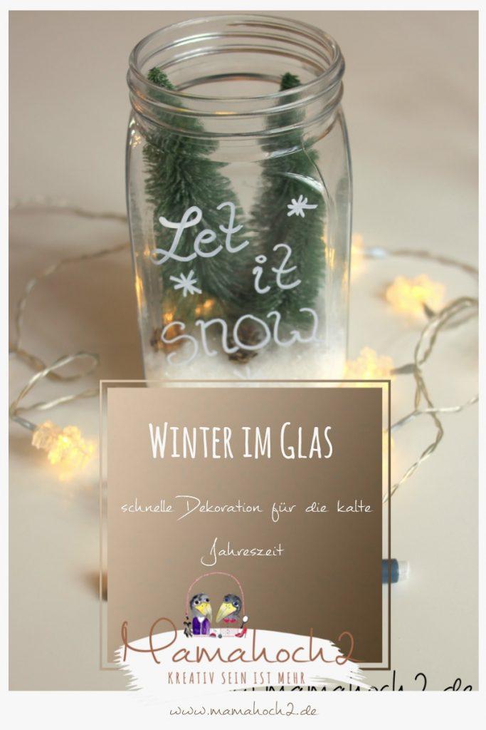 Winterwelt im Glas Pinterest