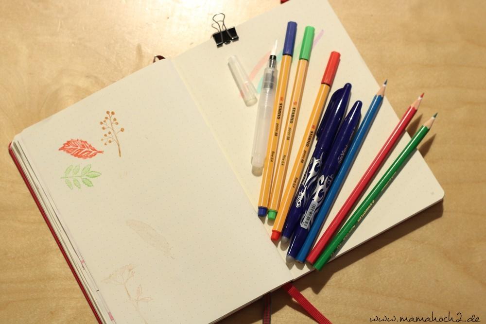 Bullet Journal . Bullet Journal Ideen . Bullet Journal Materialien . Bulett Journal Kalender . Kalender selber machen . kreative Kalender (25)