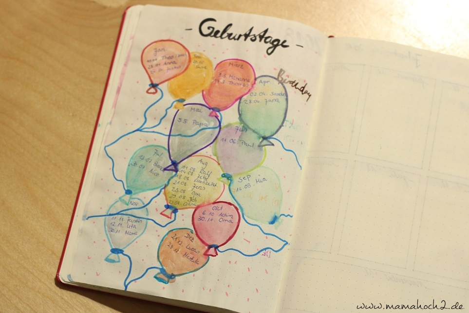 Bullet Journal . Bullet Journal Ideen . Bullet Journal Materialien . Bulett Journal Kalender . Kalender selber machen . kreative Kalender (41)