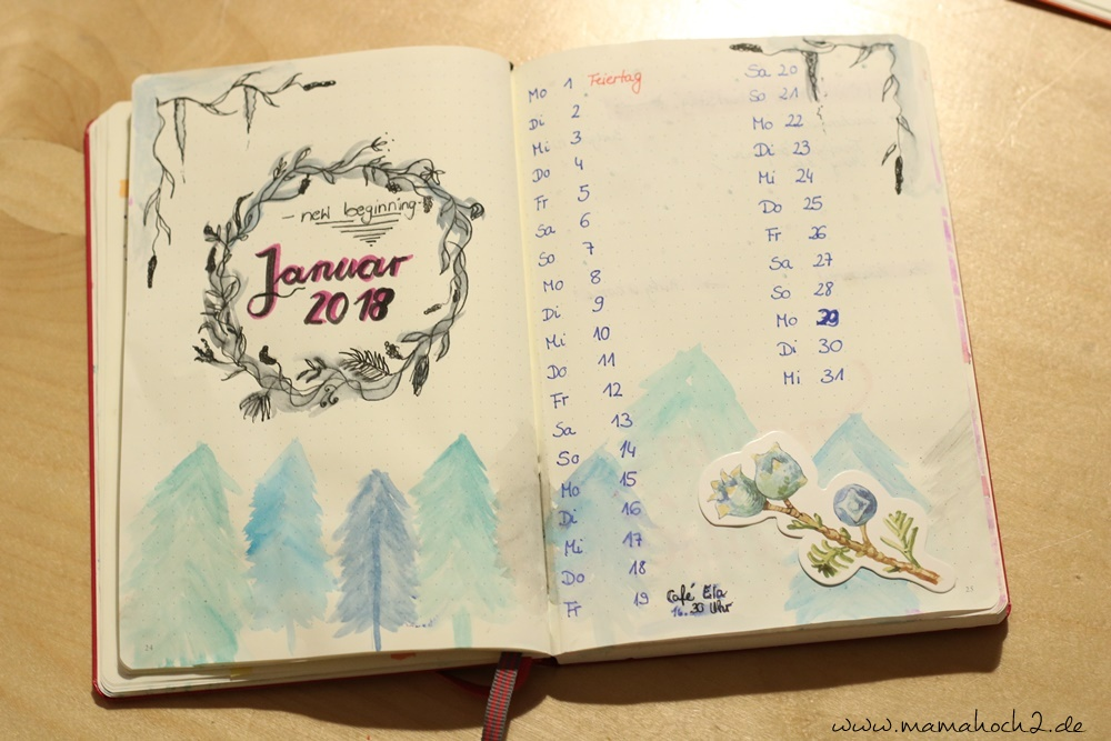 Bullet Journal . Bullet Journal Ideen . Bullet Journal Materialien . Bulett Journal Kalender . Kalender selber machen . kreative Kalender (46)