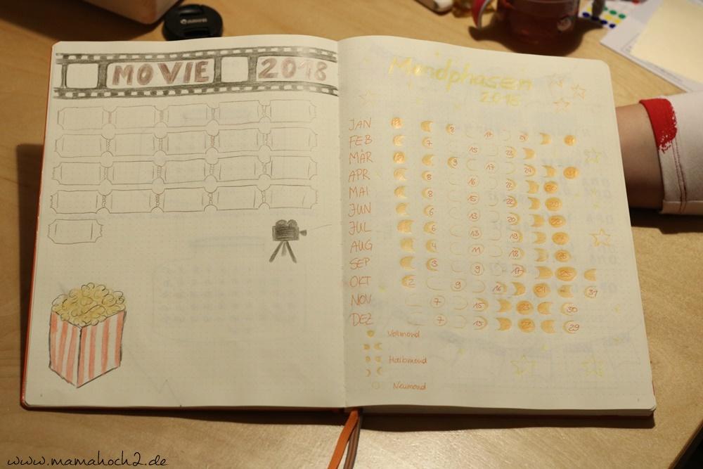 Bullet Journal . Bullet Journal Ideen . Bullet Journal Materialien . Bulett Journal Kalender . Kalender selber machen . kreative Kalender (53)