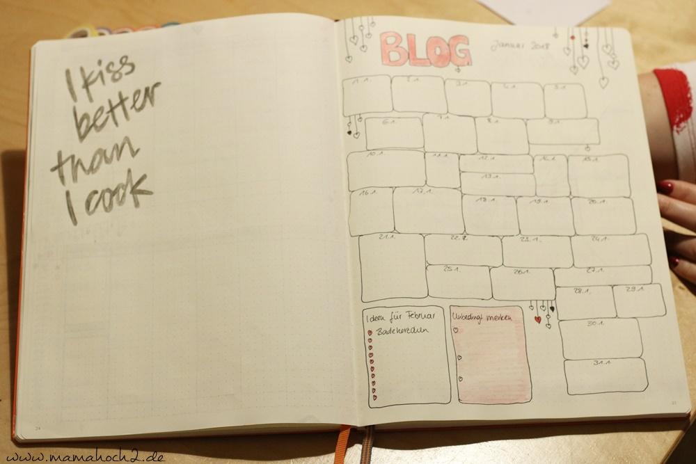 Bullet Journal . Bullet Journal Ideen . Bullet Journal Materialien . Bulett Journal Kalender . Kalender selber machen . kreative Kalender (57)