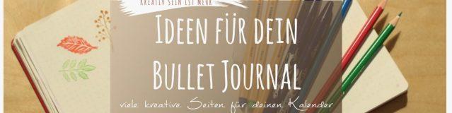 Ideen für das Bulllet Journal