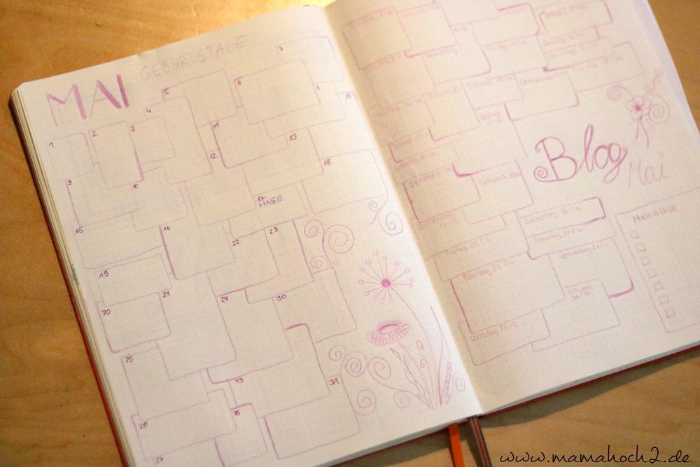Bullet Journal . Bullet Journal Ideen . Bullet Journal Materialien . Bulett Journal Kalender . Kalender selber machen . kreative Kalender 80