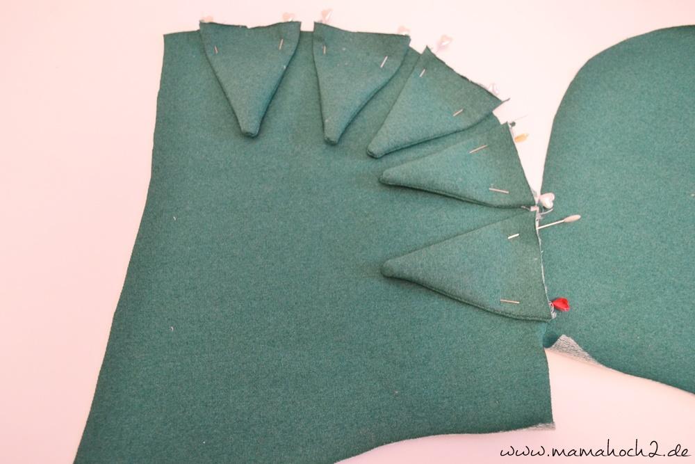 Drachenzacken für die Kapuze . Drachenpullover . Faschingskostüm selber nähen . Drachenkostüm . Drachenkapuze (18)