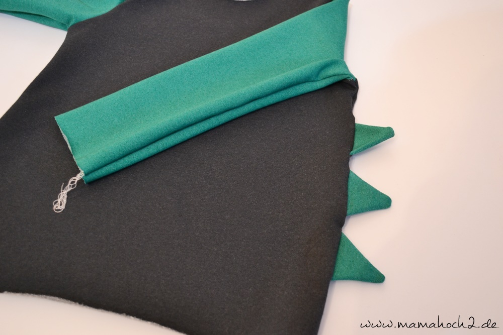 Nähanleitung - Drachenzacken für die Kapuze ⋆ Mamahoch2