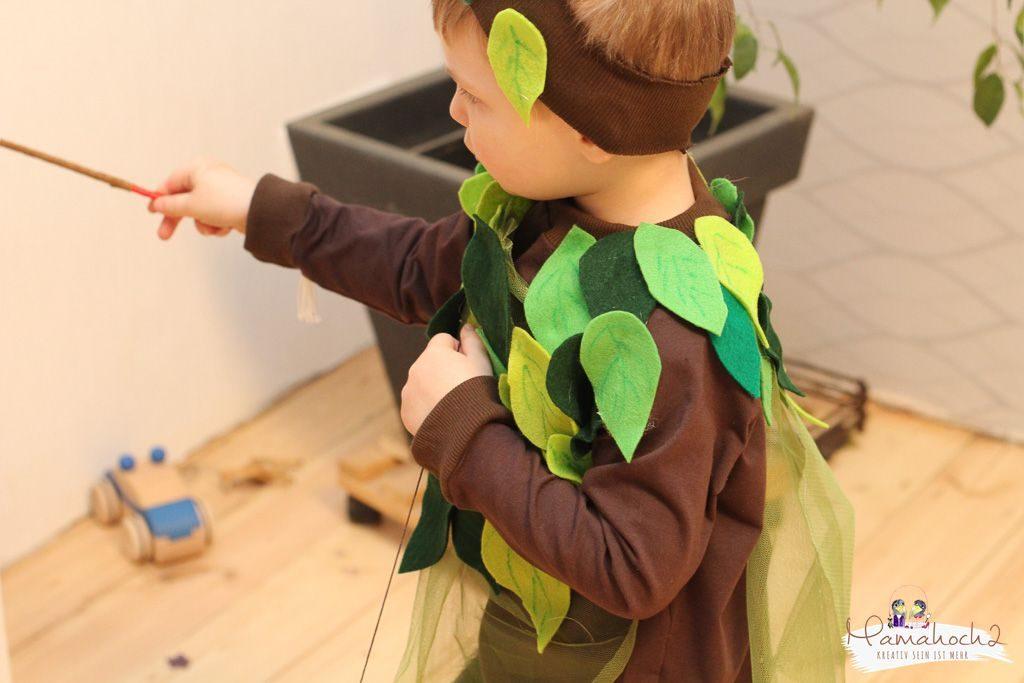 faschin kostüm karneval wald waldelfe waldfee diy tüll blätter filz nähen verkleiden (1)