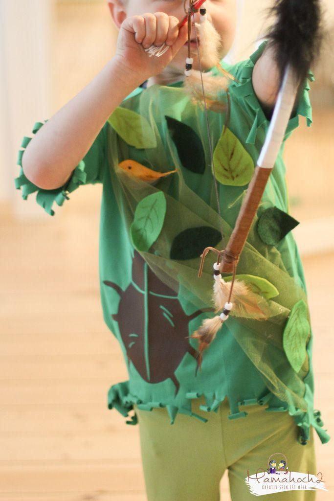 faschin kostüm karneval wald waldelfe waldfee diy tüll blätter filz nähen verkleiden (11)