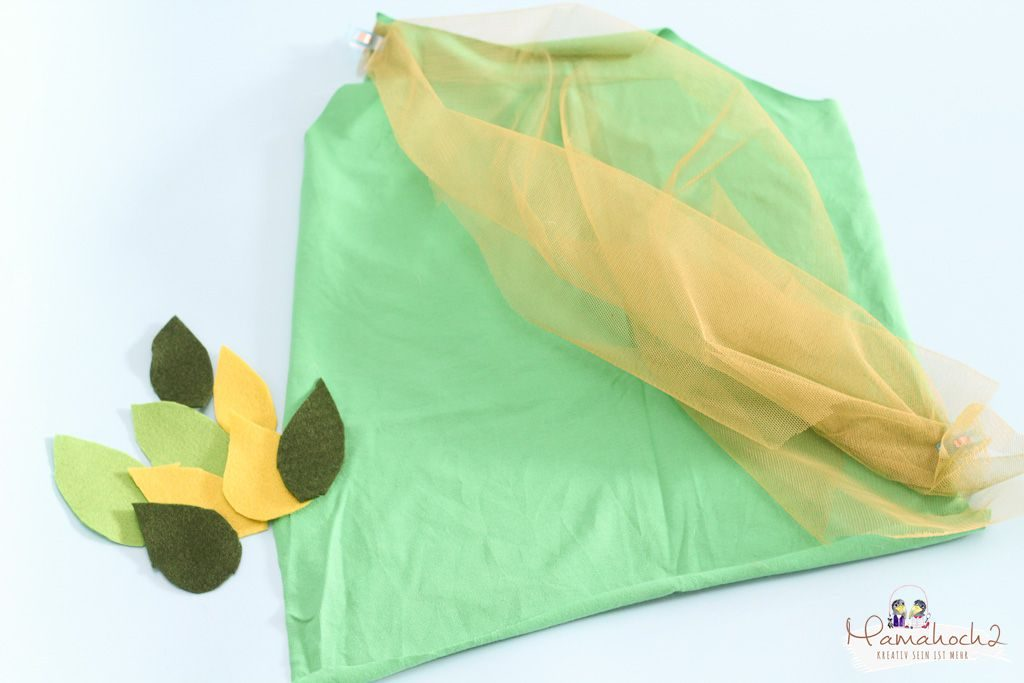 faschin kostüm karneval wald waldelfe waldfee diy tüll blätter filz nähen verkleiden (20)