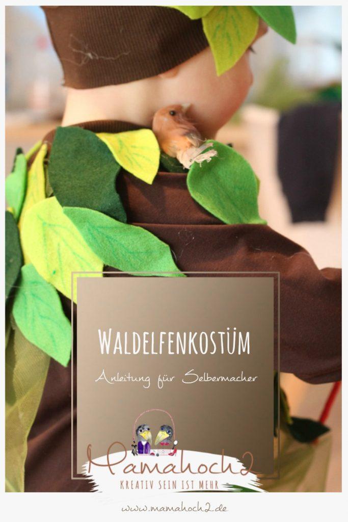 kostüm wald waldelfe fasching karneval wald verkleiden diy