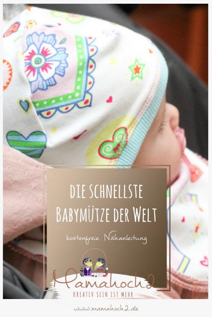 nähanleitung mütze baby babymütze nähen käppchen rockers schnelle anleitung freebook mamahoch2 sewing