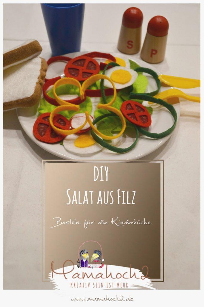 Filzessen . Salat aus Filz . Essen für die Kinderküche . DIY Kinderküche . gesunde Ernährung für Kinder (3)