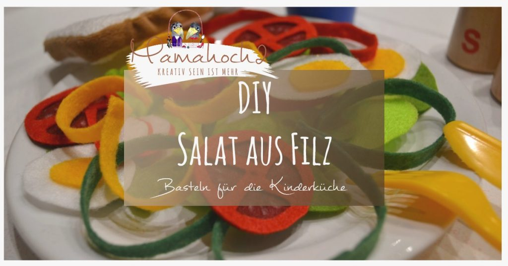 Filzessen . Salat aus Filz . Essen für die Kinderküche . DIY Kinderküche . gesunde Ernährung für Kinder (4)