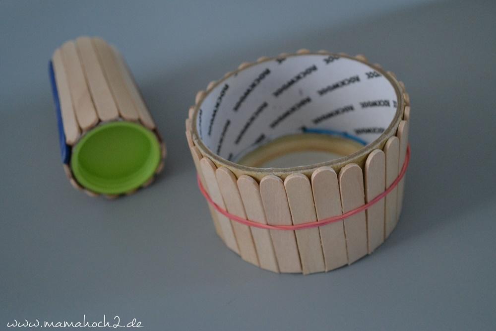 Stiftehalter aus Eisstielen . Basteln mit Holz . Holz . Holzstiele verarbeiten . Basteln mit Naturmaterialien 51