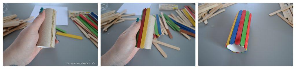 Stiftehalter aus Eisstielen . Basteln mit Holz . Holz . Holzstiele verarbeiten . Basteln mit Naturmaterialien (8)