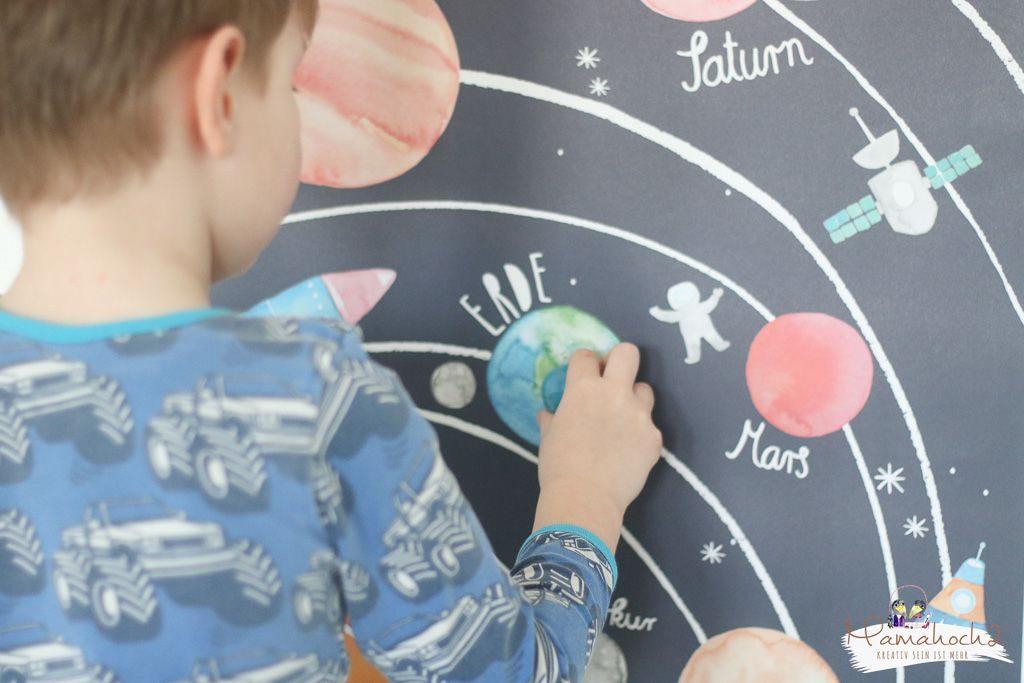 planeten lernen sonnensystem tipps spielideen erde mond sonne neptun lernen fürs leben kinderzimmer ideen für zu hause (13)