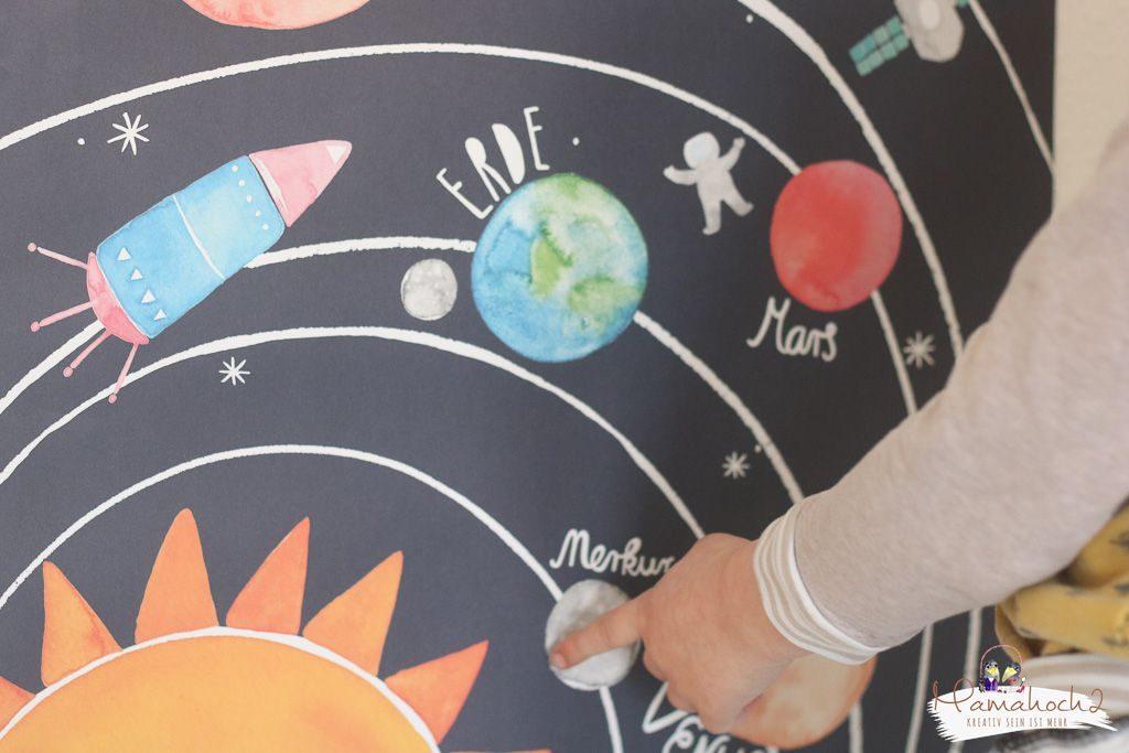 planeten lernen sonnensystem tipps spielideen erde mond sonne neptun lernen fürs leben kinderzimmer ideen für zu hause (18)