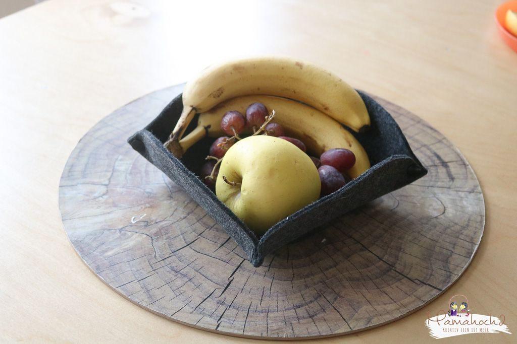 Filz Ideen Korb aus Filz basteln Schale DIY (3)