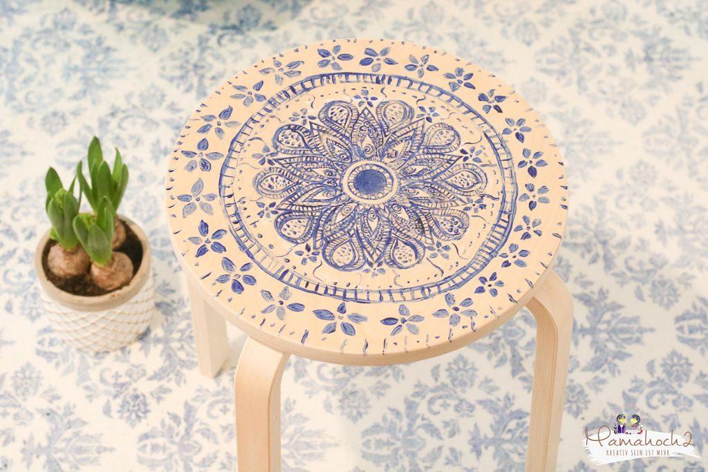 Ikea Frosta hack Möbel umgestalten mit Fototransfer auf Holz (2)