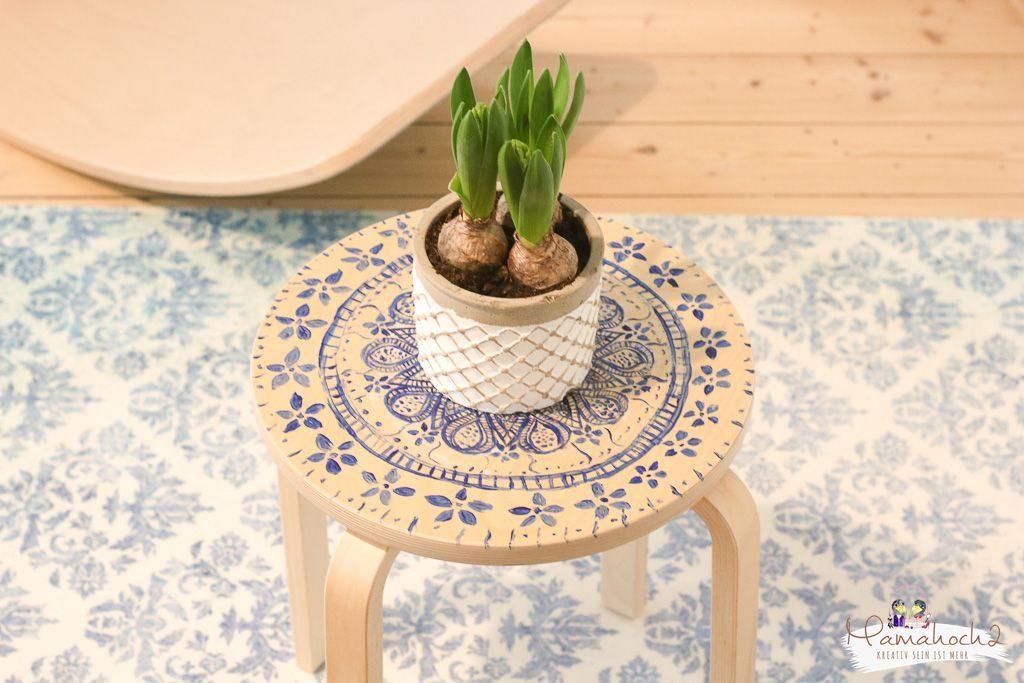Ikea Frosta hack Möbel umgestalten mit Fototransfer auf Holz (3)