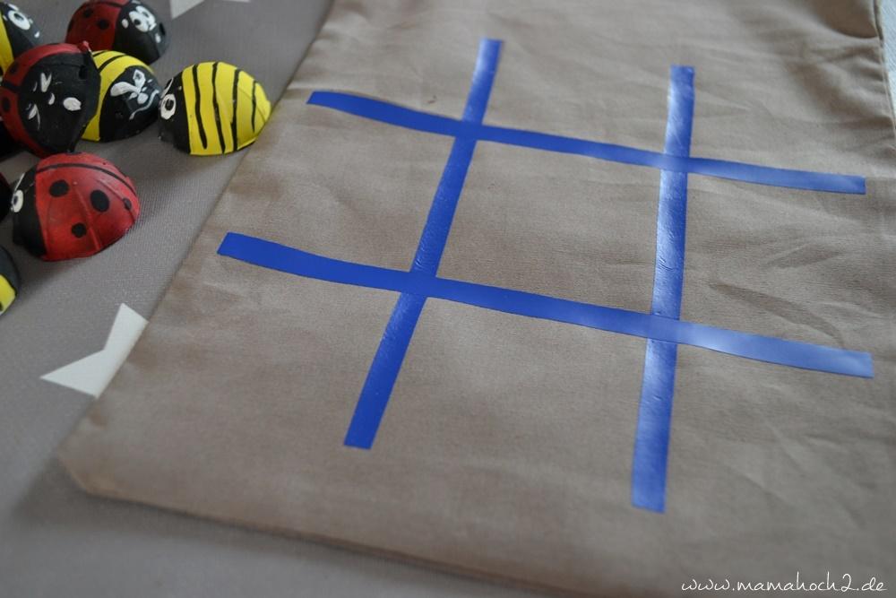 Marienkäfer Ideen . Tic Tac Toe . Bastelnmit Kindern . Gipsarbeiten . schnelle Bastelanleitung . DIY schnell . Diy mit Kindern (11)