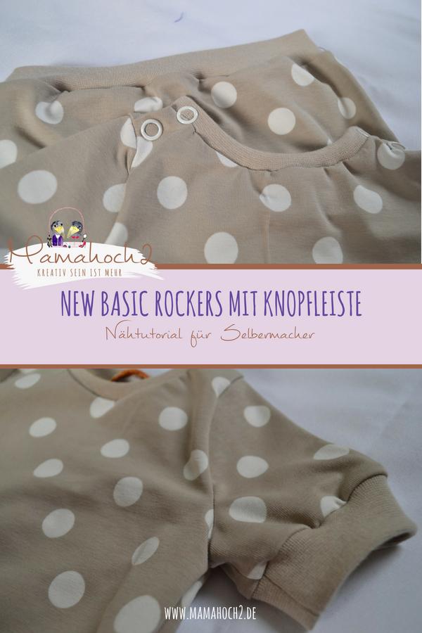 New Basic Rockers mit Knopfleiste . Shirt mit Knopfleiste nähen . schnelles nähen . Freebook . Schulternaht mit Knopfleiste nähen
